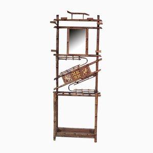 Vintage Garderobe aus Bambus