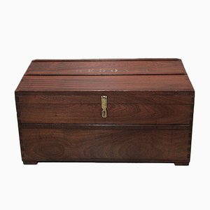Antique Mahogany Nautical Trunk