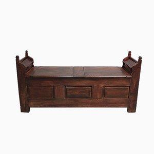 Antique Chestnut Compartment Bench