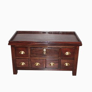 Antique Indian Mahogany Compartment Chest