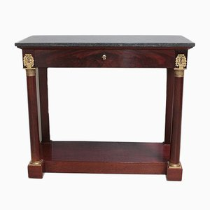 Antique Empire Mahogany Console Table