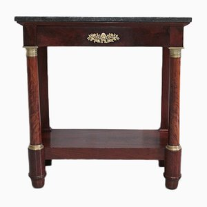 Antique Empire Mahogany Console Table