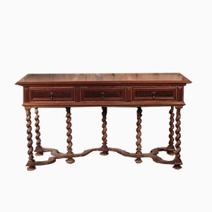 Antique English Walnut Console Table