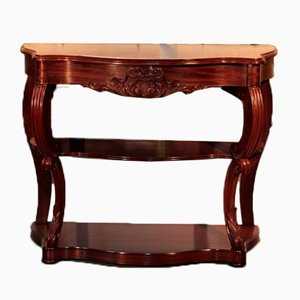 Antique Napoleon III Style Mahogany Console Table