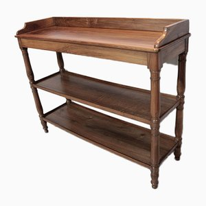 Antique Louis Philippe Walnut Console Table