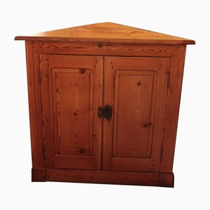 Antique Pitch Pine Corner Commode