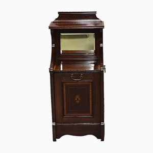 Vintage English Mahogany and Rosewood Coal Cabinet, 1920s