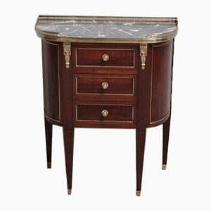 Vintage Louis XVI Style Mahogany, Marble, and Brass Dresser