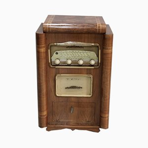 Vintage Walnut Radio-Record Player