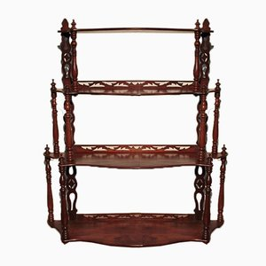 Antique Louis-Philippe Mahogany Wall Shelf