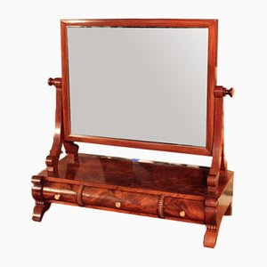 Antique English Mahogany Mirror