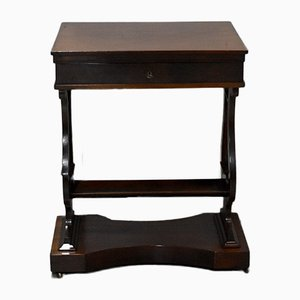 Antique Empire Mahogany Side Table