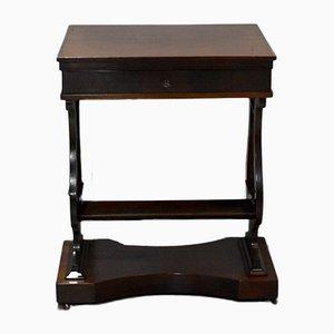 Antique Empire Mahogany Side Table