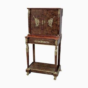 Vintage Burr Ash and Mahogany Veneer Cabinet