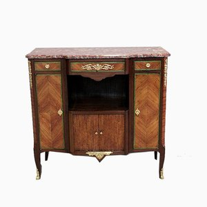 Antique Rosewood Veneer and Mahogany Console Table