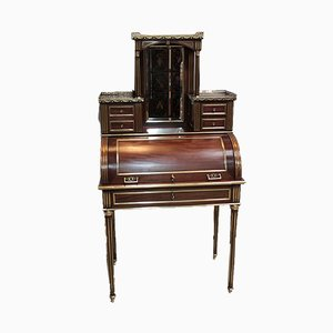 Antique Mahogany Veneer Secretaire