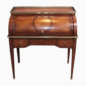 Antique Louis XVI Style Rosewood Cylinder Desk