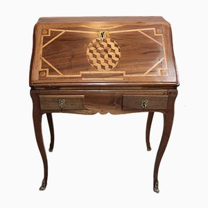 Antique Louis XV Style Walnut Desk