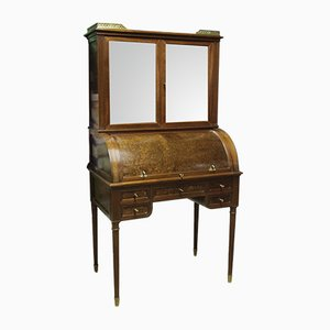 Antique Mahogany, Marble, and Brass Desk