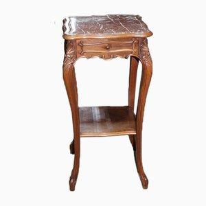 Vintage Walnut Side Table, 1920s