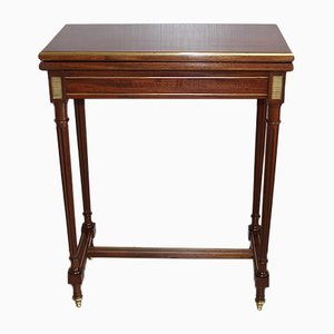 Small Antique Louis XVI Style Mahogany Game Table