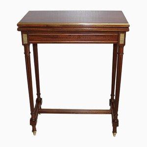 Tavolo da gioco piccolo in stile Luigi XVI antico in mogano