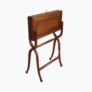 Antique Mahogany and Beech Folding Secretaire