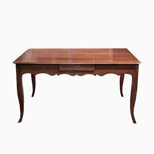 Antiker Esstisch aus Birke & Kirschholz