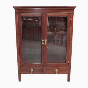Louis XVI Style Mahogany and Glass Cupboard