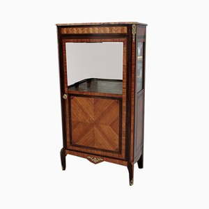 Vintage Rosewood Marquetry Display Case