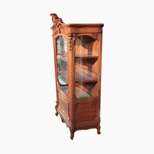 Vintage Rocaille Walnut Display Case