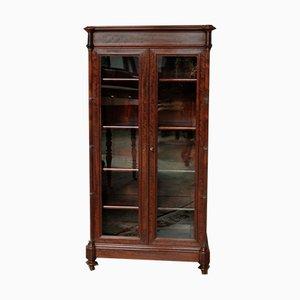 Antique Mahogany Veneer Display Case