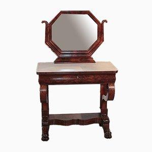 19th Century Mahogany and White Marble Dresser