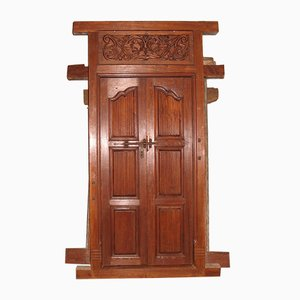 Antique Teak Colonial Door