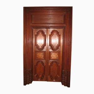 Antique Louis XIV Teak Colonial Door