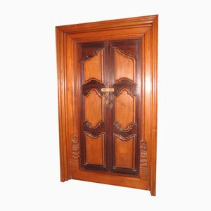 Antique Rosewood and Teak Door