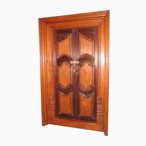 Antique Rosewood and Teak Door