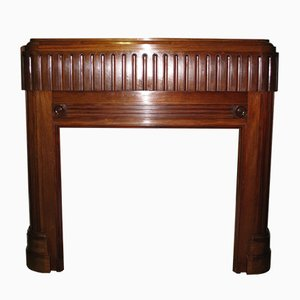 Art Deco Mahogany Entourage Chimney