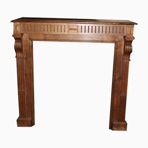 Vintage Chestnut Fireplace Mantel, 1920s