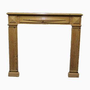Vintage Pinewood Fireplace Mantel, 1920s