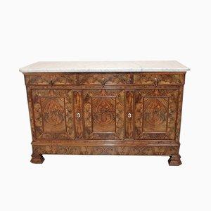 Vintage Burr Walnut Veneer Sideboard