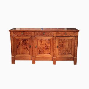 Antique Cherry and Burl Elm Sideboard
