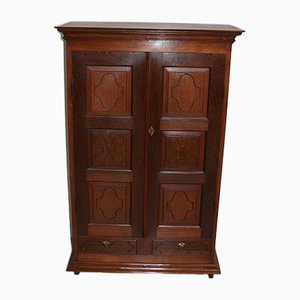 Antique Indian Teak Wardrobe