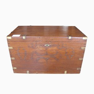 French Antique Teak Trunk