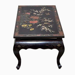 Chinese Vintage Black Lacquered Wood Coffee Table