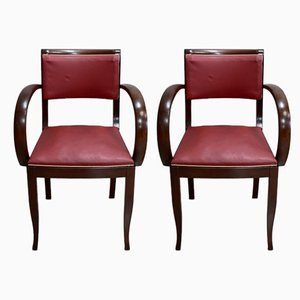 Vintage Beech Armchairs, 1940s, Set of 2