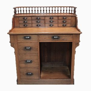 Antique Oak Old Checkout Counter