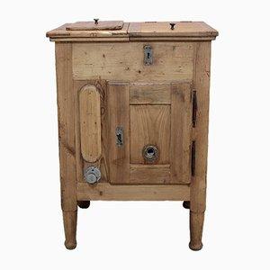 Secretaire antico in legno di abete, inizio XX secolo
