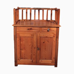 19th Century Fir and Oak Baby Changing Table