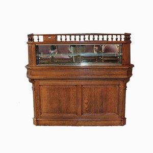 Mostrador de farmacia vintage de roble
